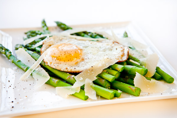Asparagus Fried Egg with Parmesan Cheese Recipe