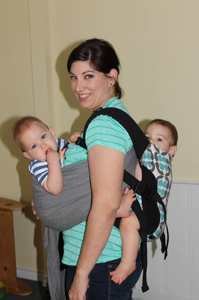 tandem ringsling and SSC babywearing