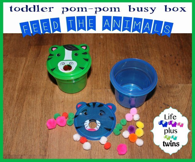 Feed the Animals busy box toddler