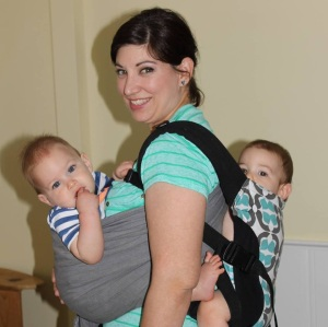 tandem wearing twins ring sling ssc soft structured carrier