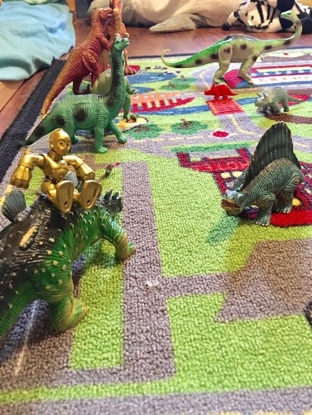 quiet play dinosaur rug